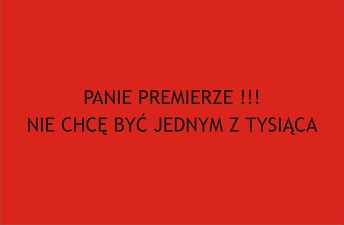 Czerwona kartka do Premiera Donalda Tuska - wersja do druku